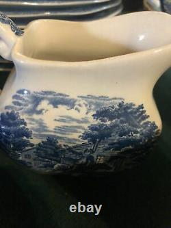 Liberty Blue Staffordshire Ironstone china from England Set