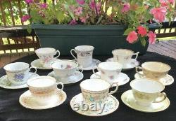 Lot 10 Sets-20pc Fine Bone China Tea Cups Saucers-england-prince Albert #3