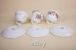 Lot 9 Teacups Sets Fine Bone China England Royal Albert Foley Standard Rosina
