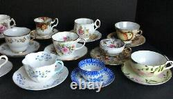 Lot of 13 Cup and Saucer Sets Fine China England 3 Smaller 10 Regular Size