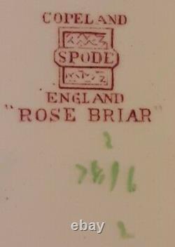 Lovely Antique 93Pc. Spode Copeland England Rose Briar Pattern China Set