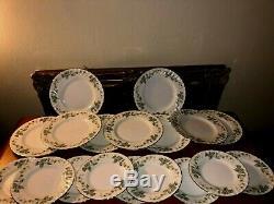 MINTON GREENWICH S-705 BONE CHINA MADE IN ENGLAND 48 pcs Dinnerware set