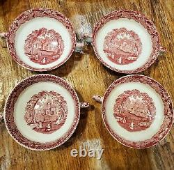 Masons Ironstone China, Vista Red, England, 62 Piece Set