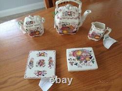Masons Patent Ironstone China Fruit Basket England Tea Serving Set