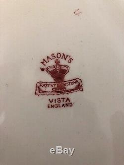 Masonss Patent Ironstone China Pattern Vista England Set