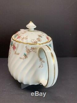 Minton Ancestral Gold Trim Bone China Teapot Saucers N Cup Set Of 24 Pcs England
