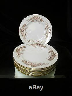 Minton Bedford Bone China Salad Luncheon Plates Set Of 8 Made In England Gold