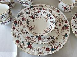 Minton Bone China Ancestral Early Globe 76 pc Dinner Set & Serving. England