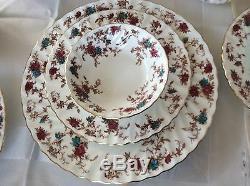 Minton Bone China Ancestral Early Globe 76 pc Dinner Set & Serving. England