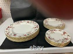 Minton England Ancestral Set Of 12, Dinner, Salad, Butter Plates and Saucers
