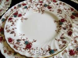 Minton English Bone China Ancestral S376 England Dinner Set Excellent Kt5280