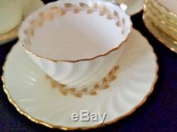 Minton Gold Cheviot Bone China England 6 Place settings of 5 (30 pieces)