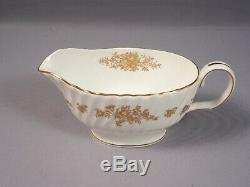 Minton MARLOW GOLD Dinner set for 8 Bone China Plates England H 5017
