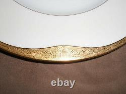 Minton china England dinner plates gilt edged set of 12 antique
