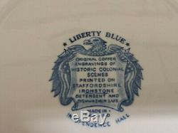 Never Used Liberty Blue Dish 4 Piece Dinnerware Set Blue. Made in England