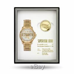 New England Patriots Super Bowl Watch & Coin Gift Set Limited 50 sets MSRP $375
