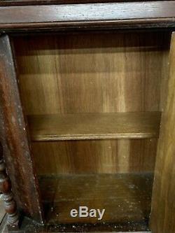 Oak Jacobian Dining Room Set Back China Cupboard