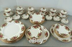 Old Country Roses China 46 Pc Set Royal Doulton Albert England Unused Vtg