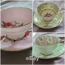 Paragon By Appointment England Bone China Teacups and Saucers Lot of 3 Sets