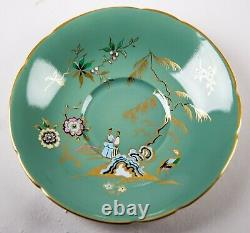 Paragon Celadon Green Chinoiserie Cup & Saucer Set Fine Bone China England