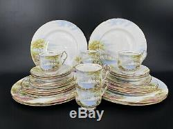 Paragon Cliffs of Dover 5 Piece Plate Setting x 6 Bone China England 30 pieces