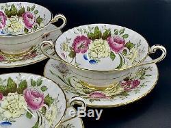 Paragon DuBarry z773 Soup Dessert Bowl With Saucer Set x 4 Bone China England