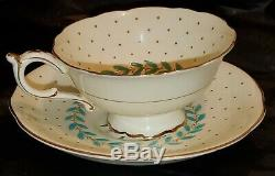 Paragon FINE CHINA Made in England Tea Cup and Saucer Set Vintage China 1940s