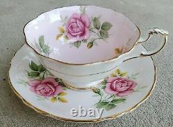 Paragon Garland Roses Teacup and Saucer Set Triple Rose England Bone China
