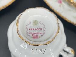 Paragon Victoriana Rose 5 Piece Place Setting x 4 Bone China England 20 Pieces