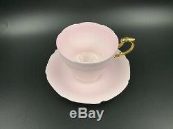 Paragon baby Pink Gold handle Tea Cup Saucer Set Bone China England
