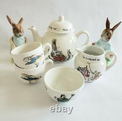 Peter Rabbit Set Wedgwood China, Beatrix Potter, England Frederick Warne & Co