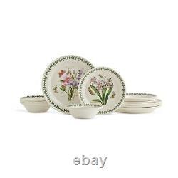 Portmeirion Botanic Garden 12-Piece Dinnerware Set Service for 4 Made In England