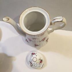 Princess House Hammersley Spode Fine Bone China Tea Set England 4 Cups Roses