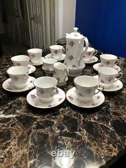 Princess House Hammersley Spode Fine Bone China Tea Set England 9 Cups Roses