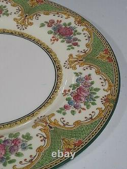 RARE Set of 4 Wedgwood China POLDHU Pattern 10.5 Dinner Plates England