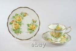 ROYAL ALBERT BONE CHINA YELLOW'TEA ROSE' ENGLAND TEA SET18 PIECES Rd 839056