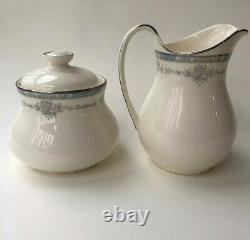 ROYAL DOULTON Bone China England LISA Pattern #H5154 Set Creamer Sugar Bowl