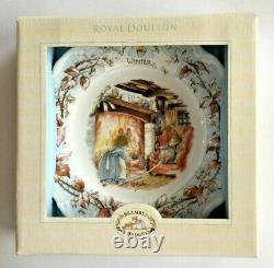 ROYAL DOULTON Brambly Hedge 4 Season Plate Set Bone China made in England NIB