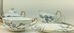 Rare Adderley Fine Bone China England Chinese Blossom Blue 18 PC Coffee/Tea Set