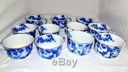Rare Antique 1905-1920 Flow Blue China Set Ridgway's England Royal Semi