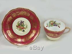 Rare Antique Tiffany Spode Copeland Dessert Service Set 39 Pieces China England