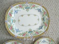 Rare Minton Japonica Floral Bird China Set 19 pc Plates Platter England Vintage