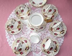 Roslyn Bone China tea set (teapot, cups, saucers, plates) Bone china England