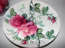 Roy Kirkham English Rose Cup & Teapot Set/3 Made In England Fine Bone China New