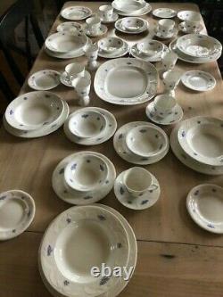 Royal Adderley Fine Bone China England Blue Chelsea 51 Piece Set