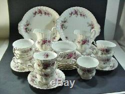 Royal Albert Bone China, England Laventer Rose - 28 Piece Tea Set - Sweet