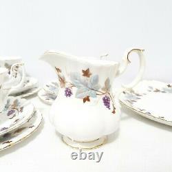 Royal Albert Bone China England Lorraine Vintage Trio Tea Set Serving Plate