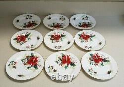 Royal Albert Bone China England Poinsettia Vintage 1976 Set of 49