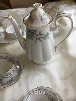 Royal Albert Bone China England Silver Maple Coffee Tea set