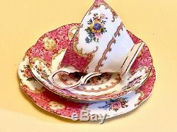 Royal Albert Bone China Lady Carlyle 21 Piece Tea Set Made in England
